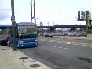 Megabus at 30th and JFK