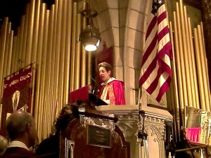 The Presiding Bishop preaching the Homily