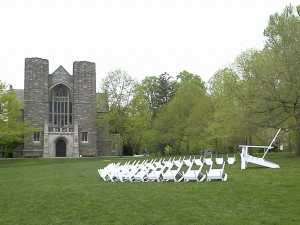 Swarthmore's Big Chair and its minions