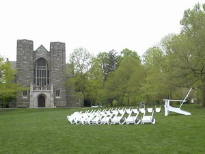 The Big Chair of Swarthmore's Parrish Beach