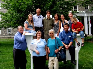 Some of my family on Swarthmore's big chair