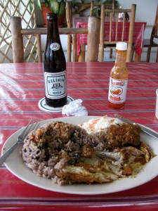 Typical Belizian dinner