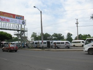 Microbuses at the UCA Terminal