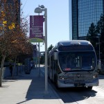 The Orange Line's western terminus, Warner Center, offers few passenger amenities.