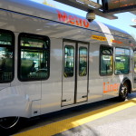 Wide doors, level boarding, and fare prepayment allow for minimal dwell times.