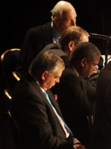 Transportation Secretary Ray LaHood (front), expresses his gloomy sentiments about the possibility of a comprehensive transportation bill passing Congress