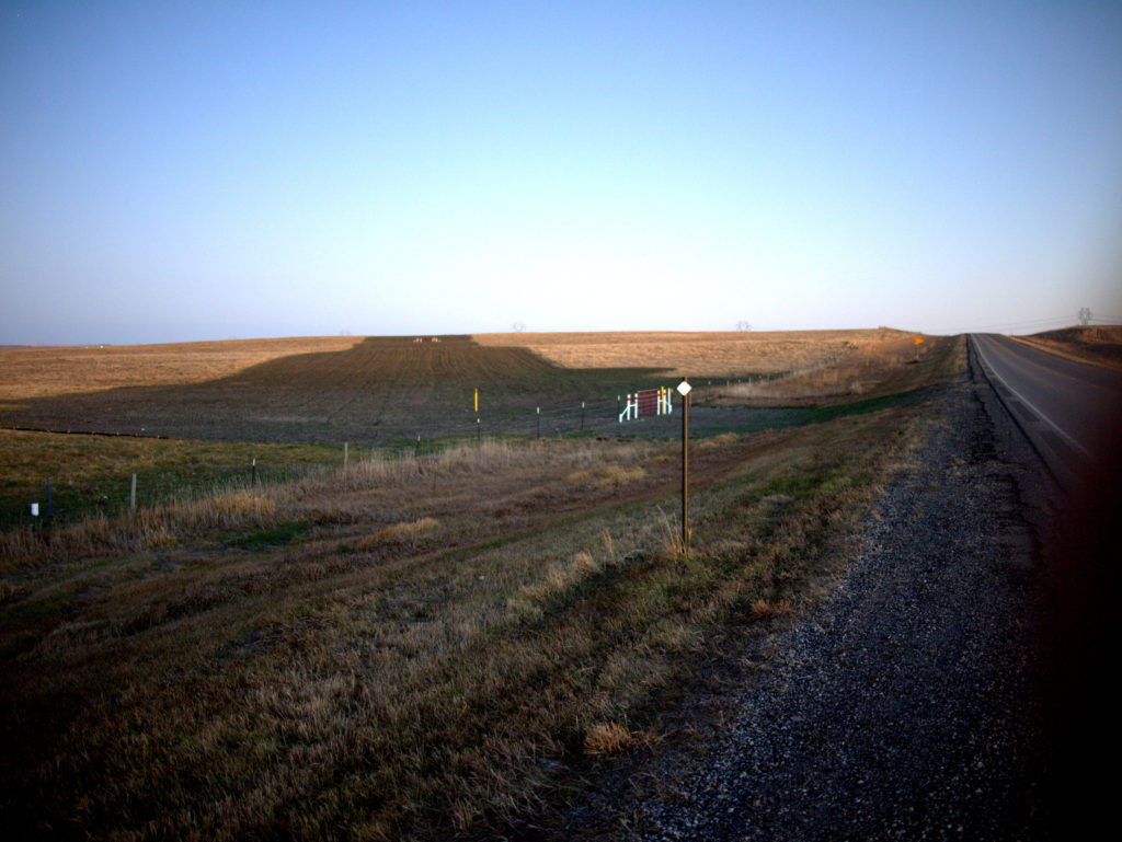 A small stretch of the nearly-complete 1170 mile Dakota Access Pipeline, along Route 83 north of Mobridge, South Dakota
