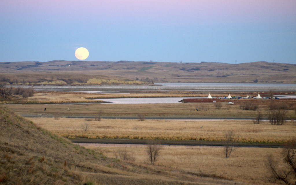 Moonrise over the Missouri River