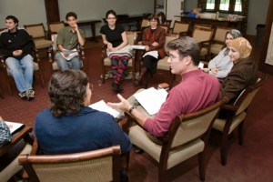 Swarthmore Scriptural Reasoning Group (Courtesy of Stuart Watson, Swarthmore College)
